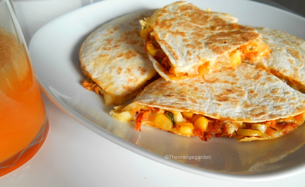 quesadillas, wraps, mexicaans, theorangegarden